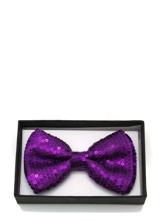 Sequined Bowtie PURPLE