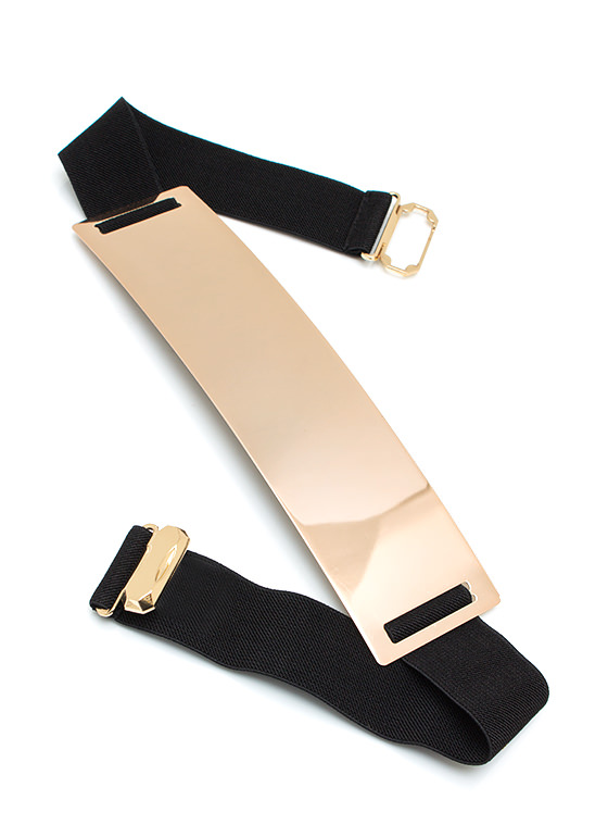 Metallic Buckle Belt GOLDBLACK