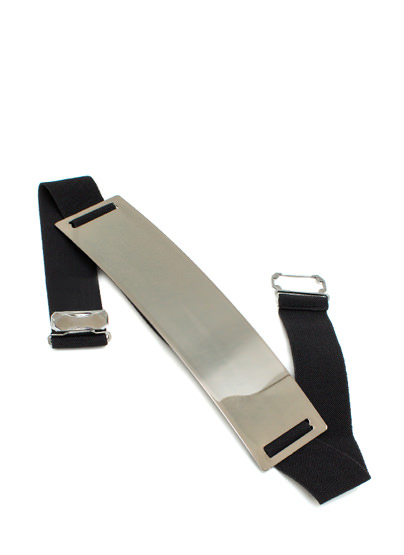 Metallic Buckle Belt PEWTERBLACK