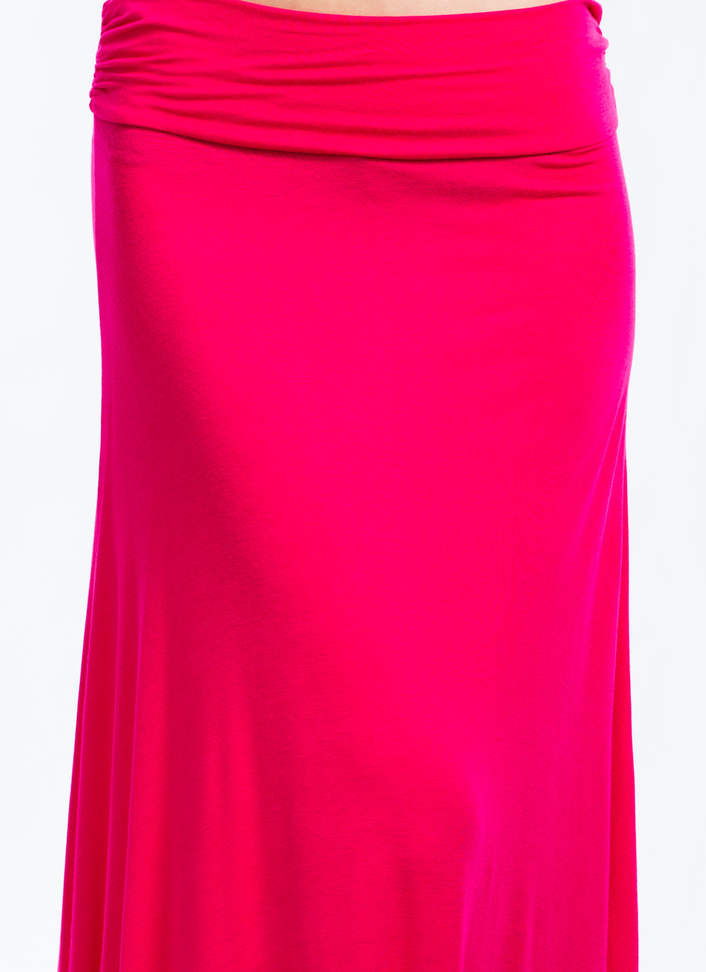 Folded Maxi Skirt FUCHSIA