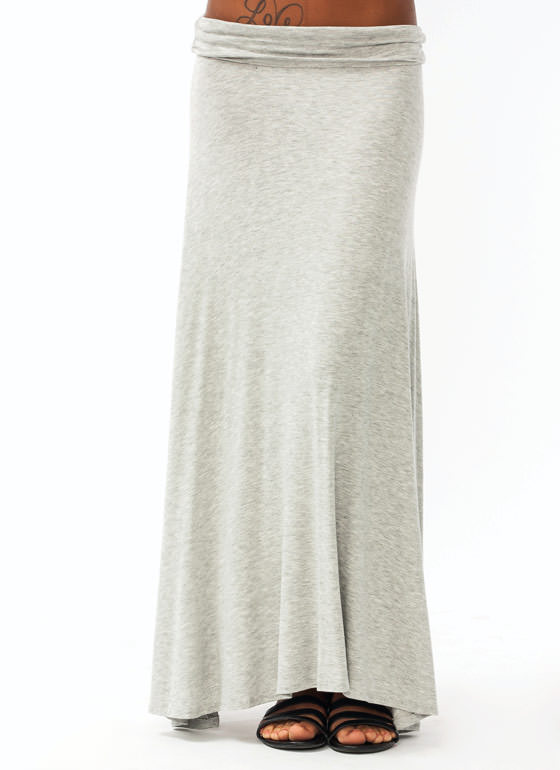 Folded Maxi Skirt LTGREY
