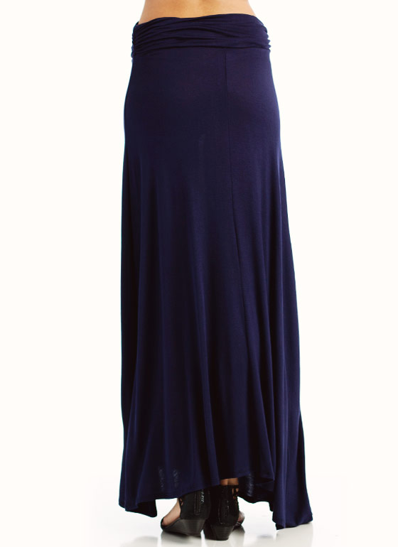 Folded Maxi Skirt NAVY