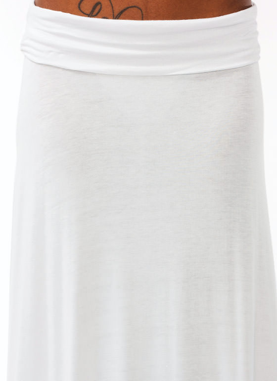 Folded Maxi Skirt WHITE