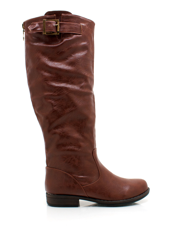 Leather Riding Boots BROWN