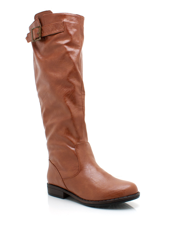 Leather Riding Boots CHESTNUT