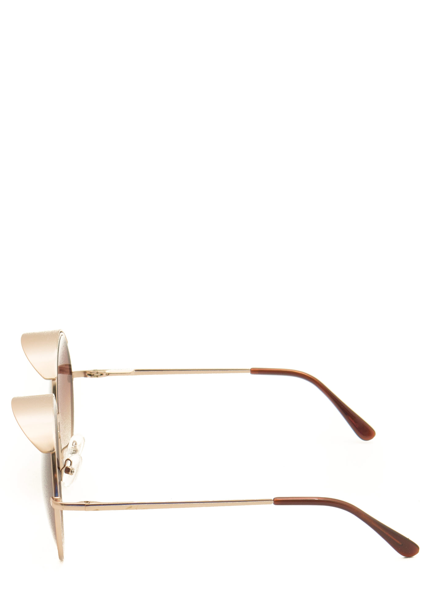 Round Visor Sunglasses MGOLDBROWN