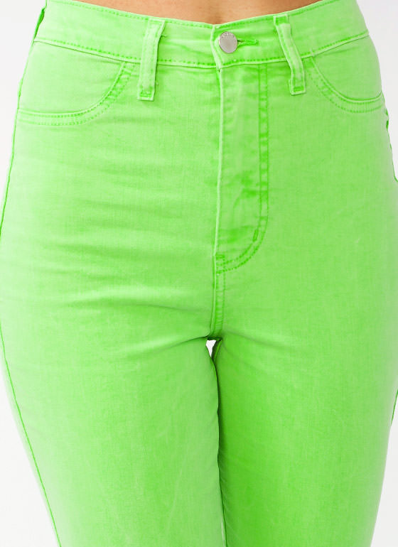 High Waisted Jeans NEONGREEN