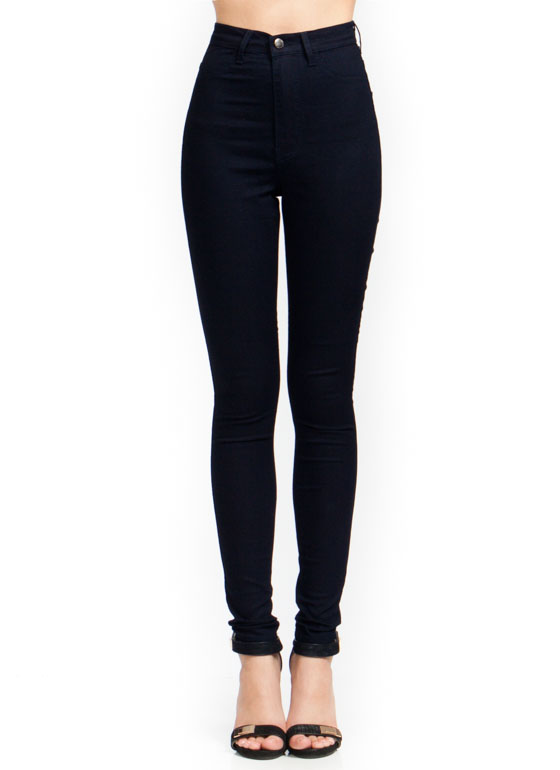 High-Waisted Skinny Jeans INDIGO