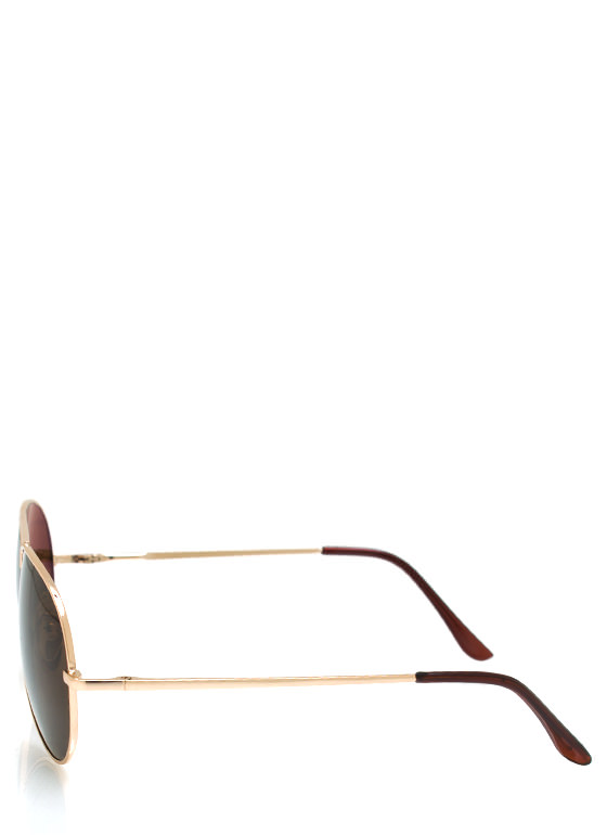 Wire Frame Aviator Sunglasses GOLDMOCHA