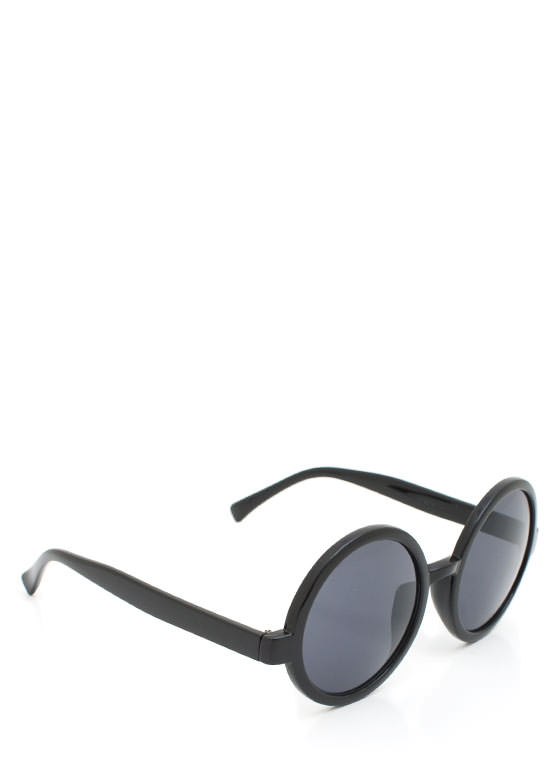 Round Sunglasses BLACKCHAR