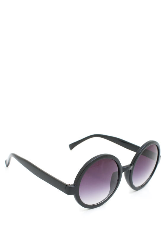 Round Sunglasses BLACKPURP