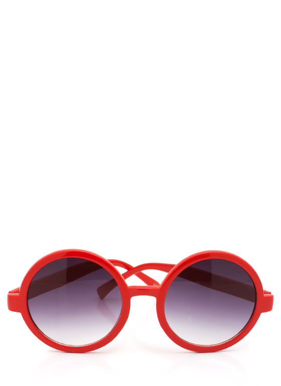 Round Sunglasses RED