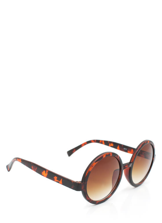 Round Sunglasses TORTBROWN