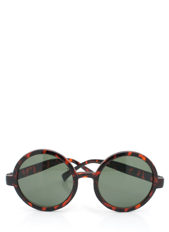 Round Sunglasses TORTGREEN
