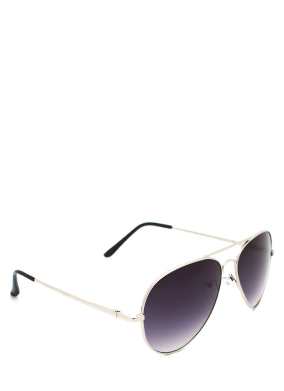 Wire Frame Aviator Sunglasses SILVERCHAR