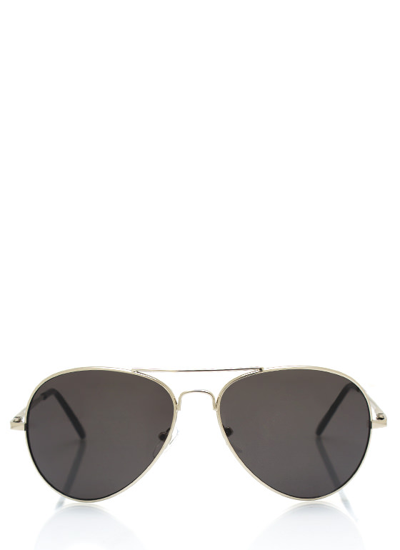Wire Frame Aviator Sunglasses SILVERSLATE