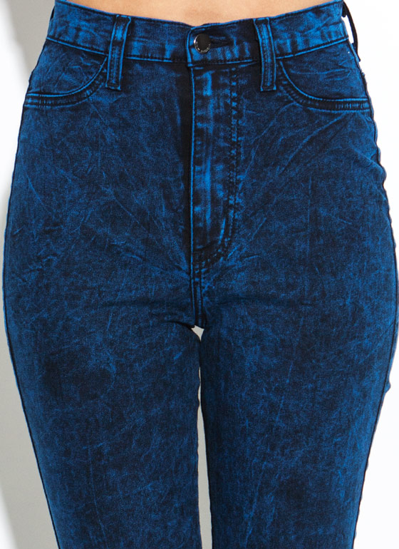 Colored Acid Wash Jeans ROYAL