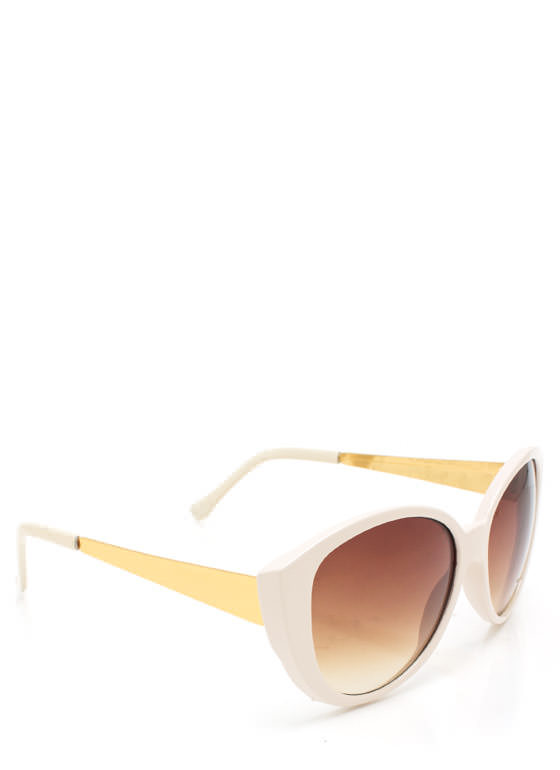 Cat Eye Sunglasses CREAMGOLD