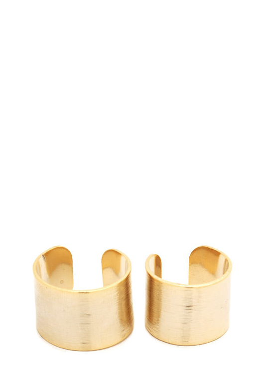 Textured Ring Duo GOLD