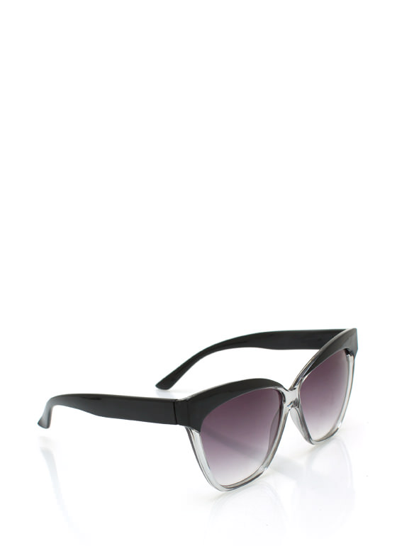 Flare Frame Sunglasses BLACKCLEAR