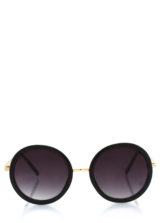 Round Frame Sunglasses BLACKGOLD