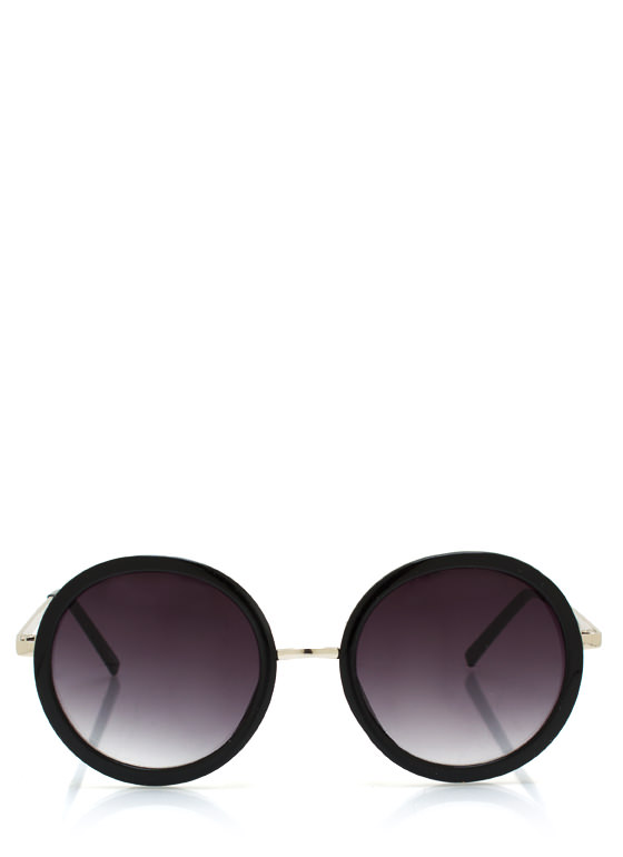 Round Frame Sunglasses BLACKSLVR