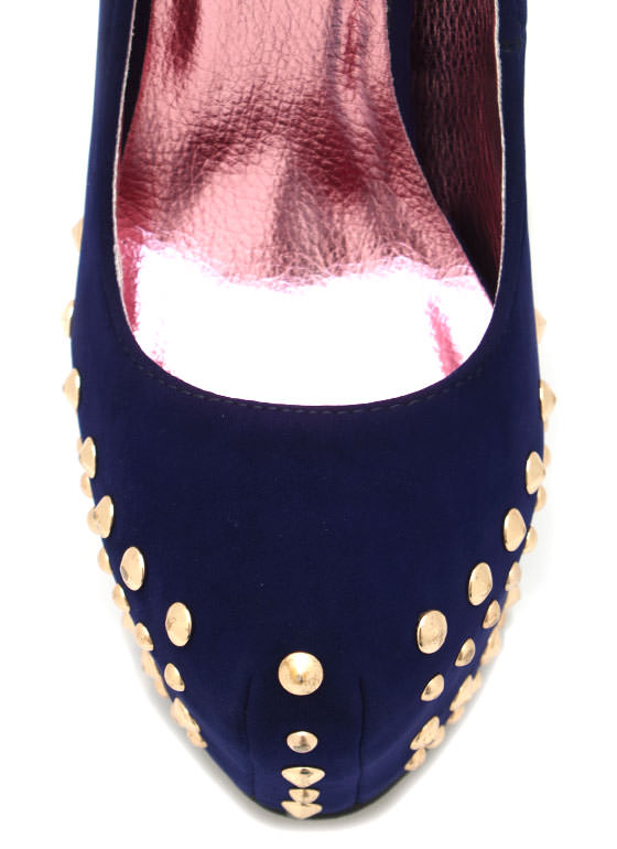 Studded Platforms NAVY