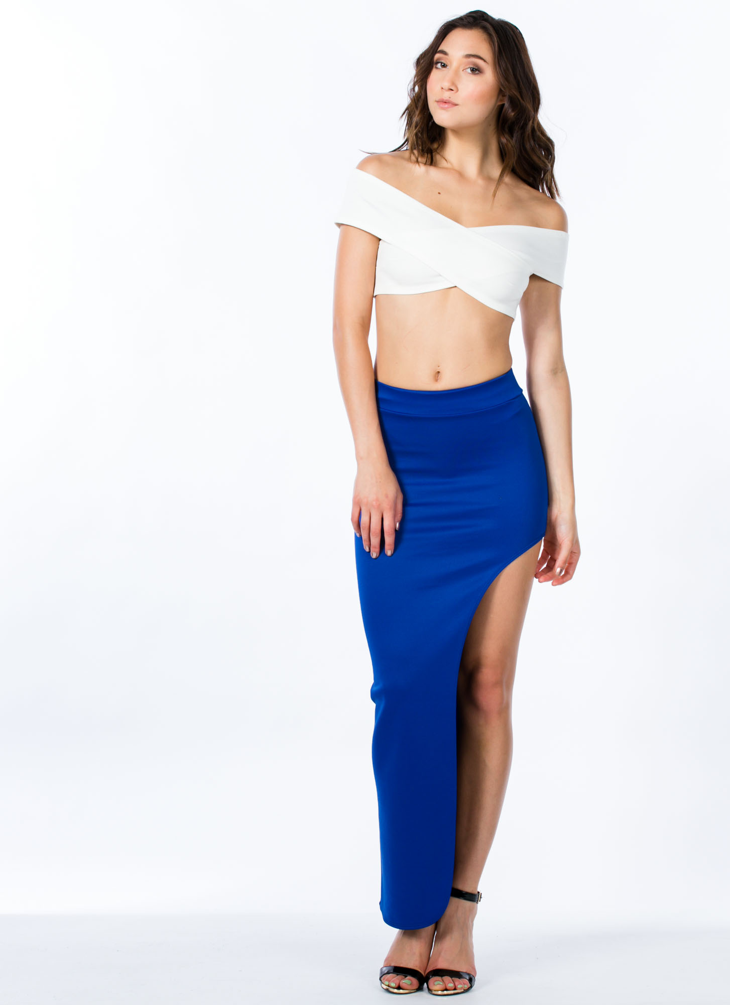 Cut Out Maxi Skirt ROYAL