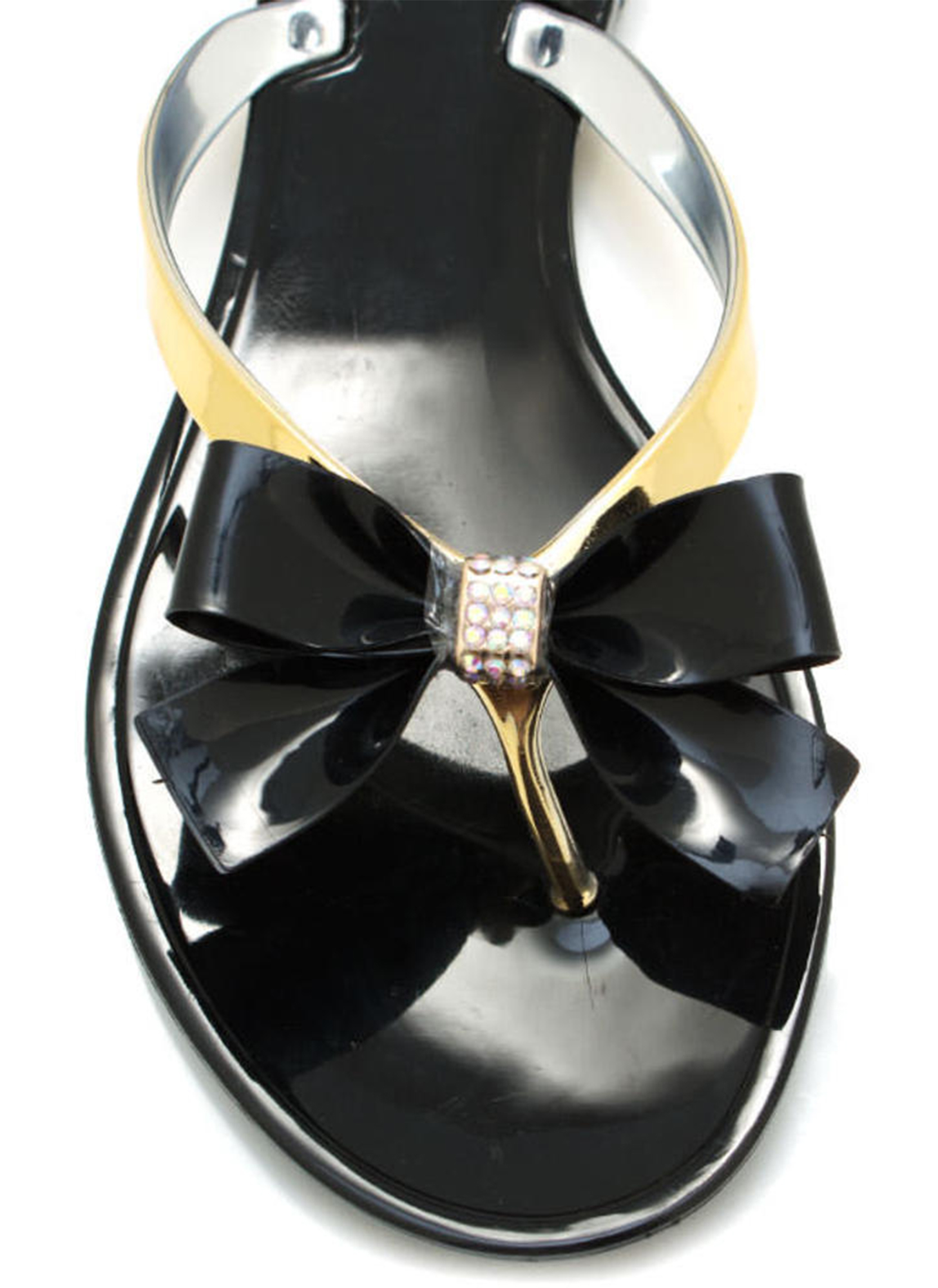 Jelly Bow Sandals BLACK