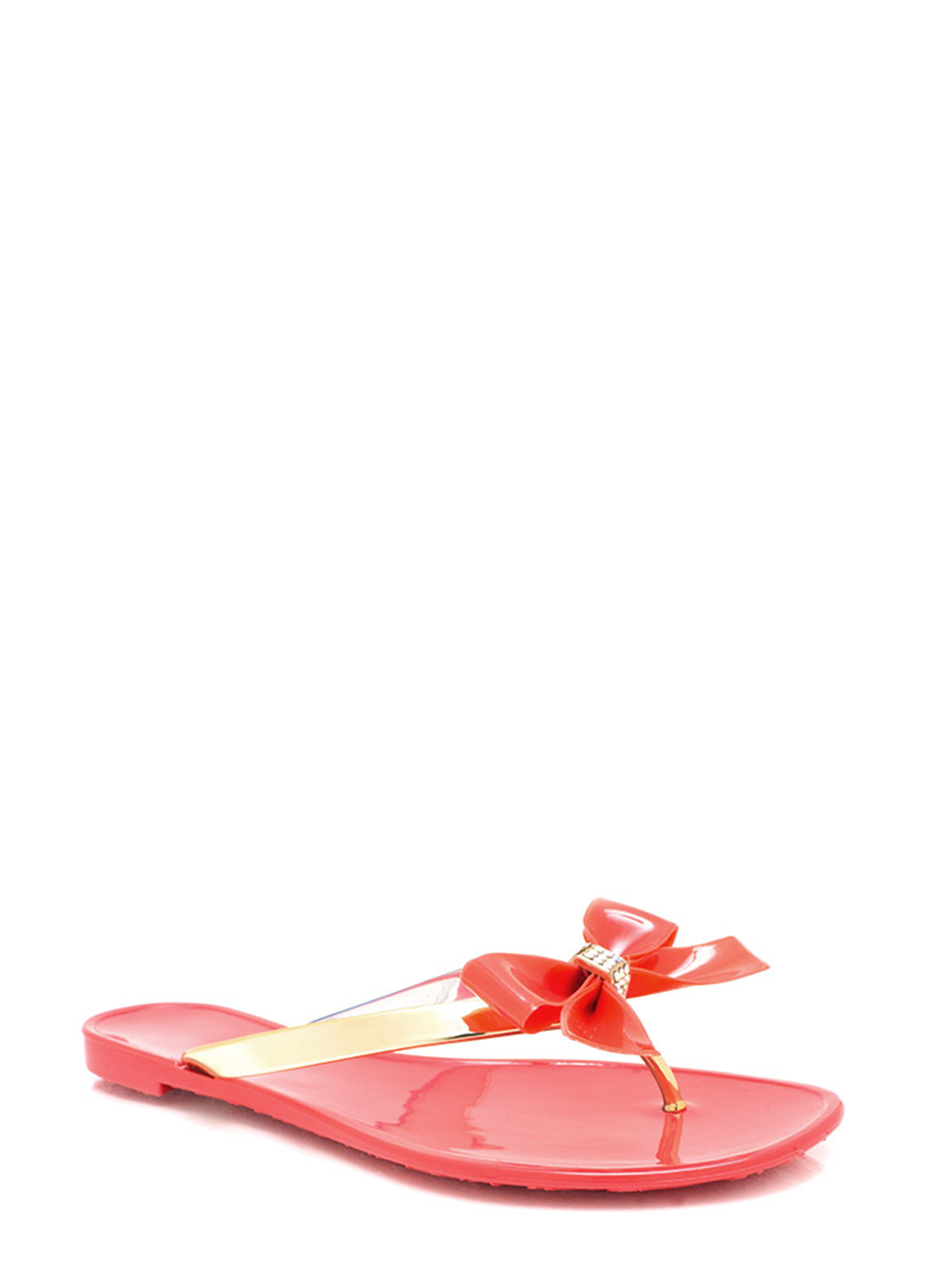 Jelly Bow Sandals CAYENNE