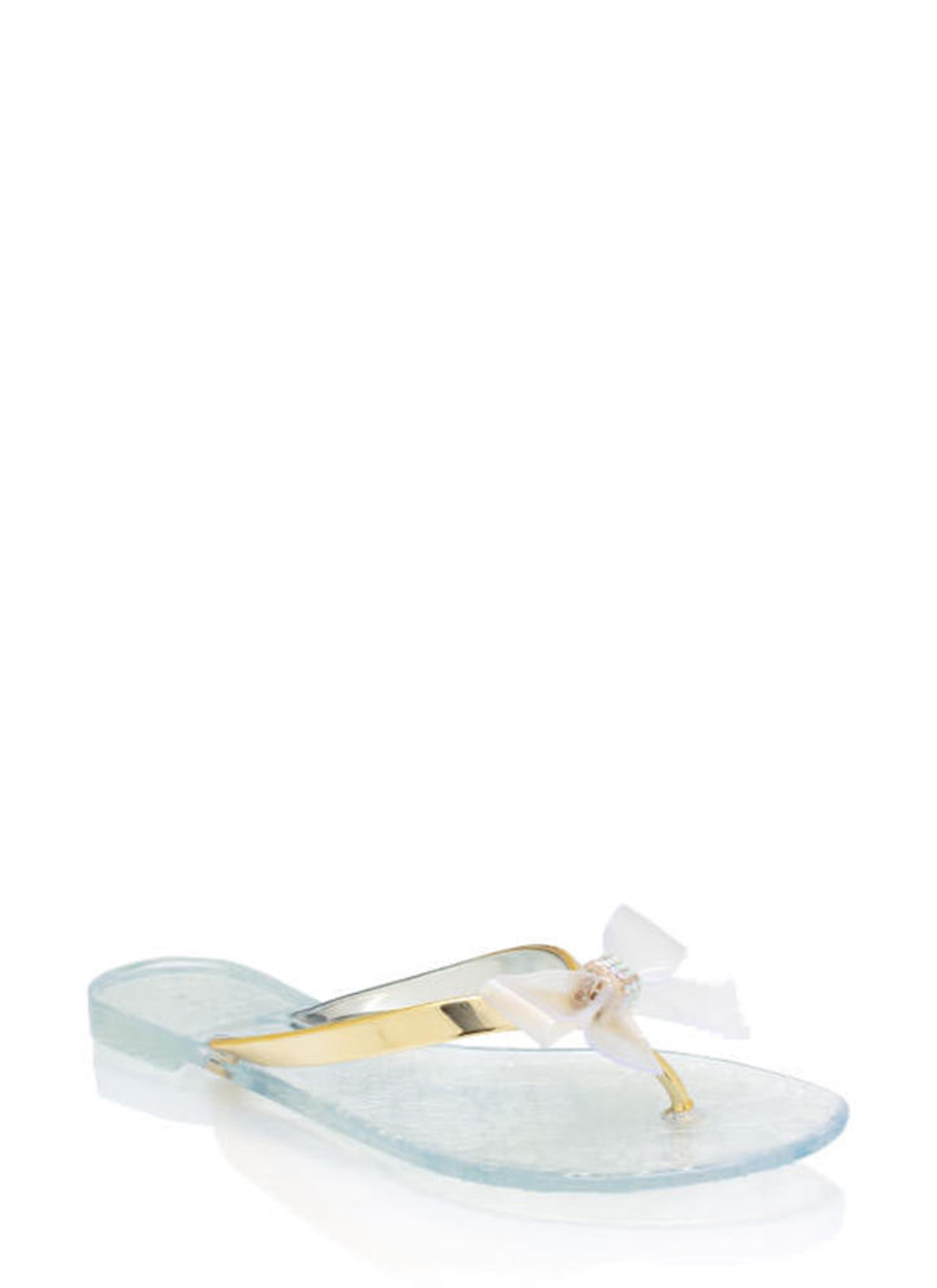 Jelly Bow Sandals CLEAR