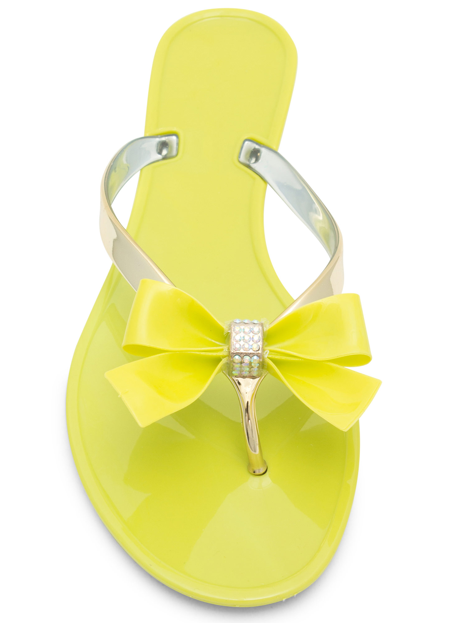 Jelly Bow Sandals LIME