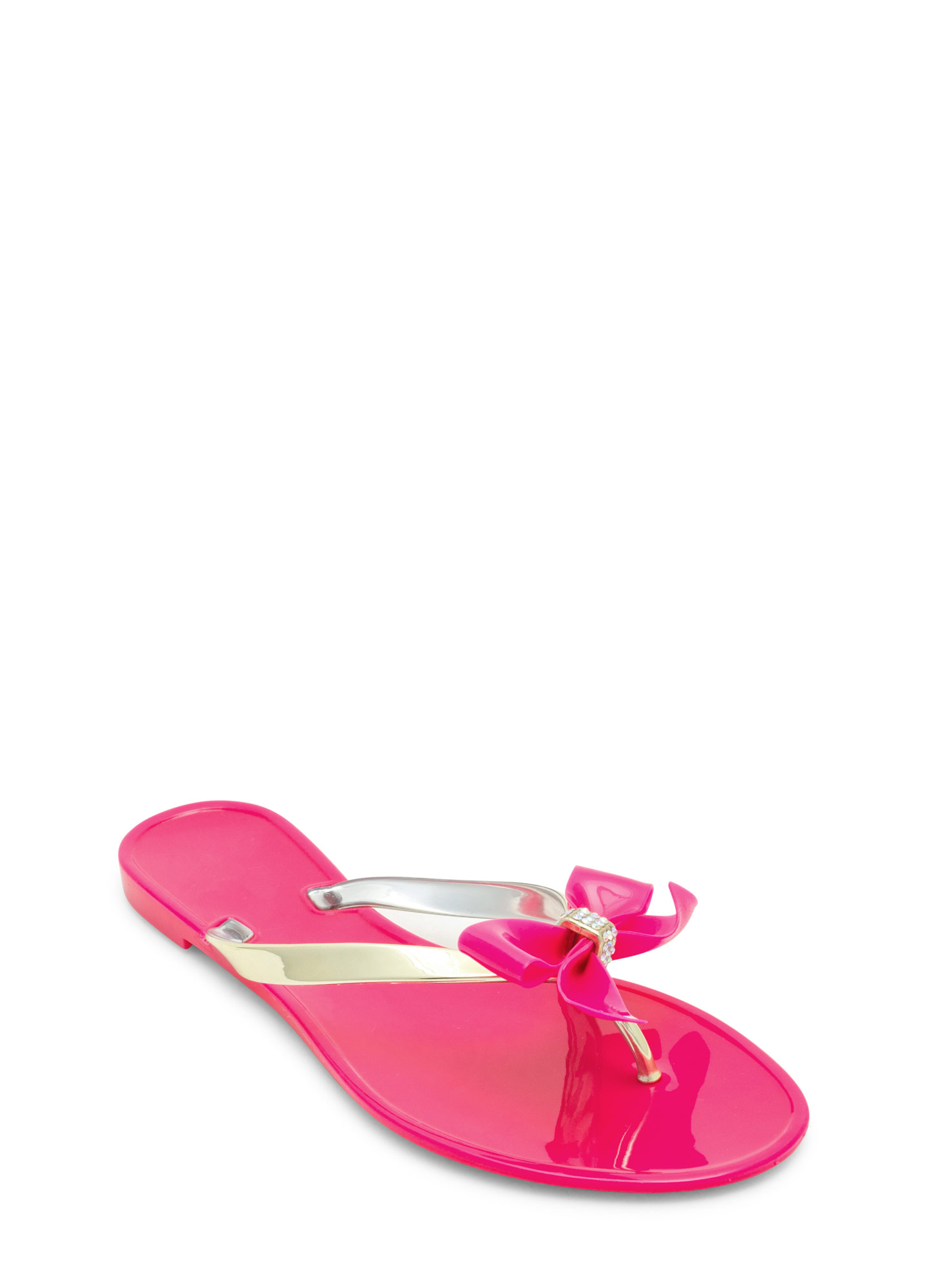 Jelly Bow Sandals MAGENTA