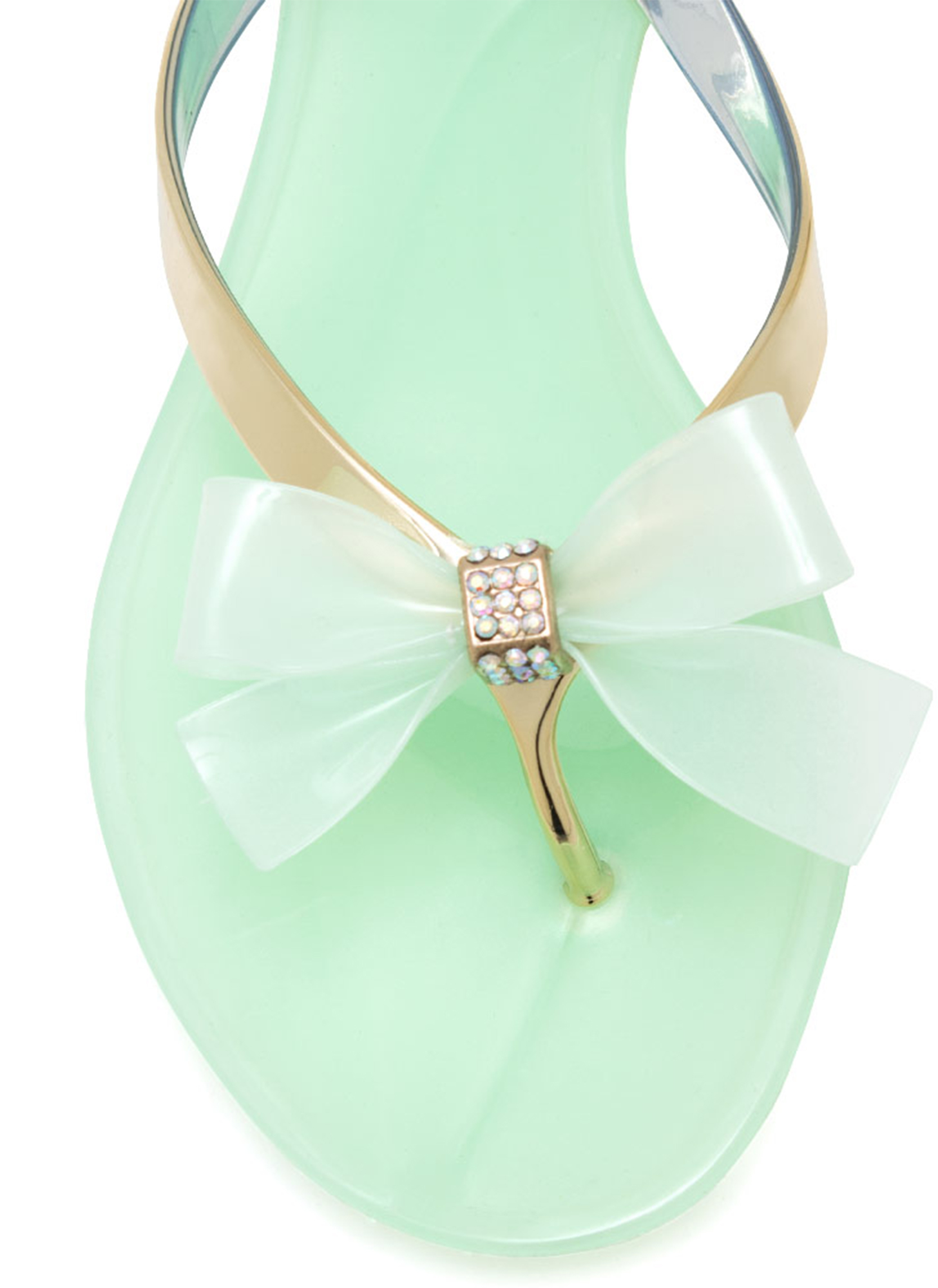 Jelly Bow Sandals MINT