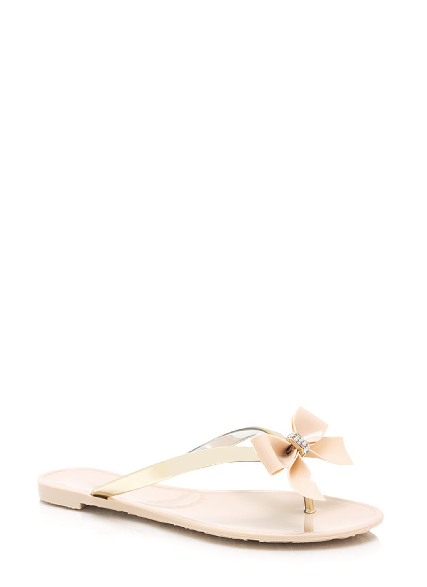 Jelly Bow Sandals NUDE