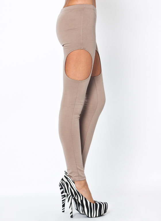 Cut Out Leggings MOCHA