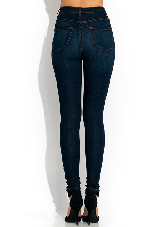 High-Waisted Skinny Jeans DKBLUE