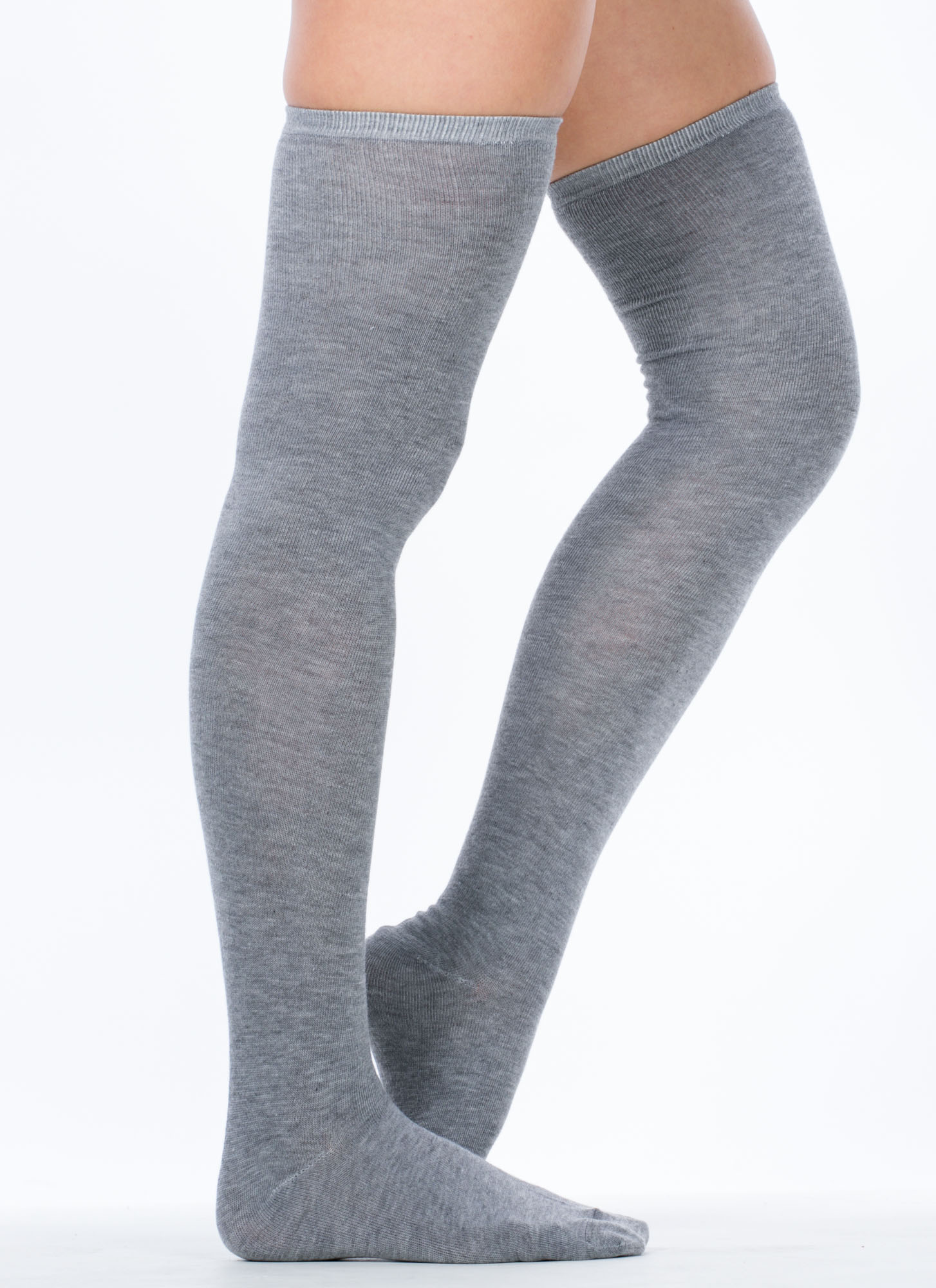 Thigh High Socks HGREY