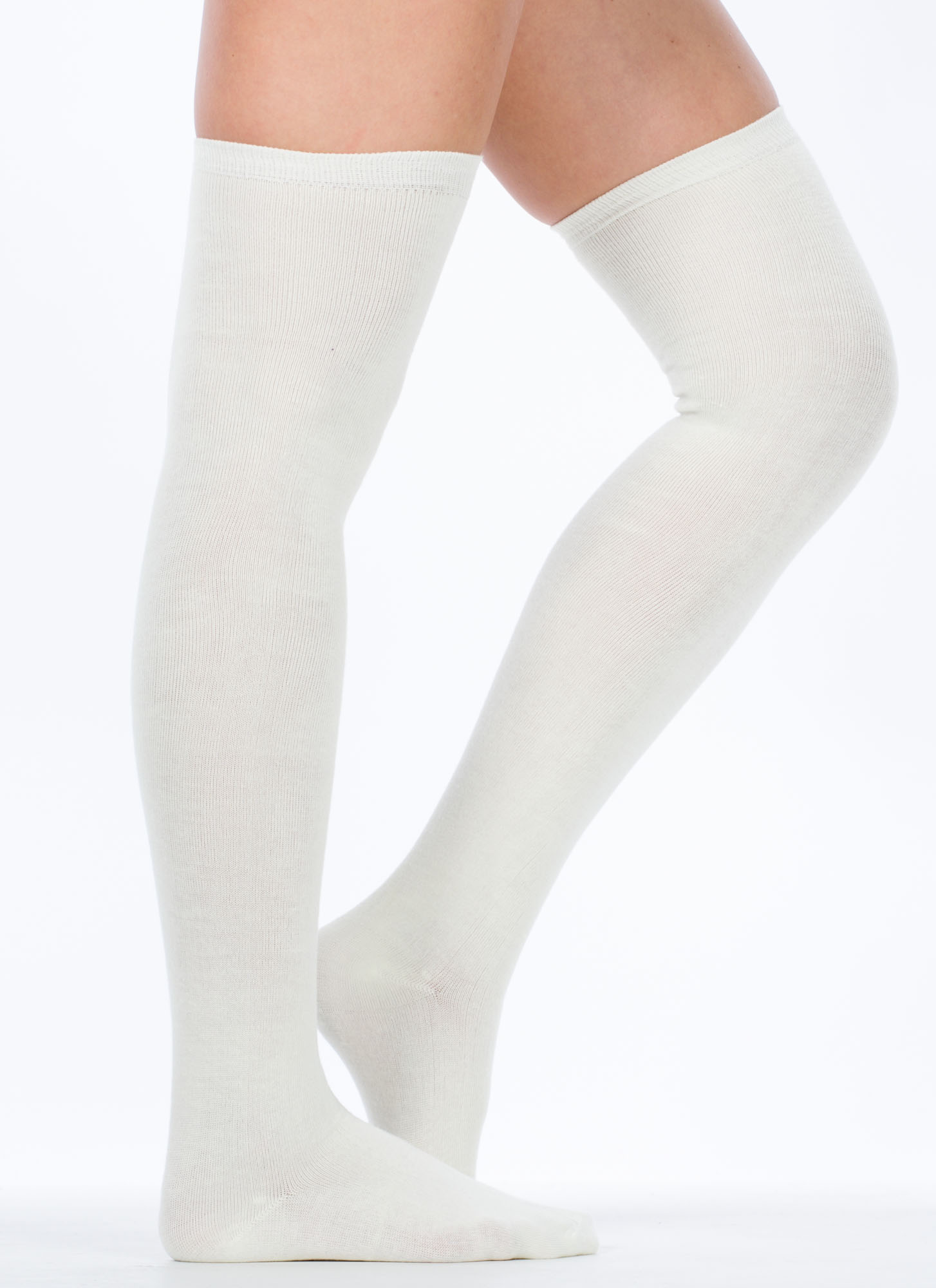 Thigh High Socks IVORY