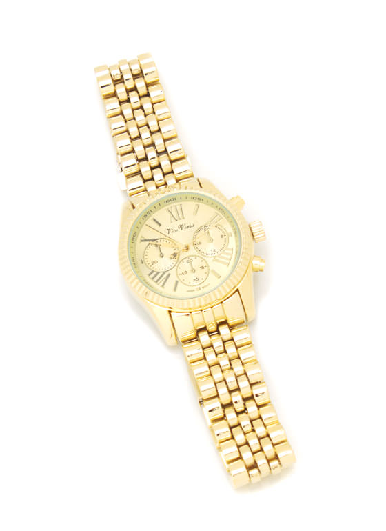Roman Numeral Watch GOLD