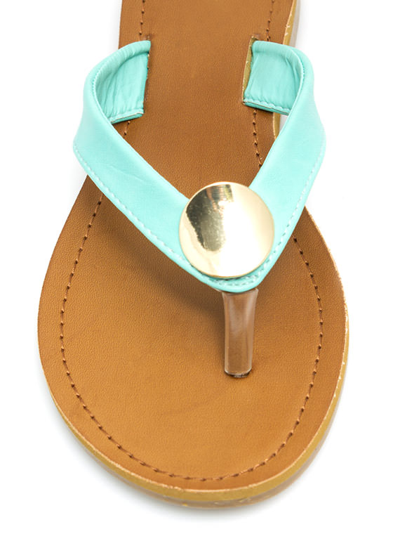 Faux Leather Sandals MINT