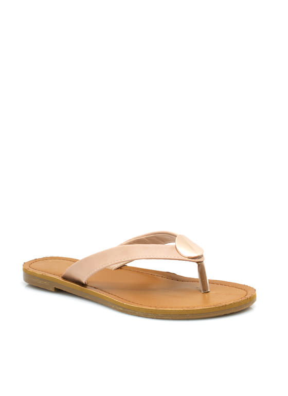 Faux Leather Sandals NUDE