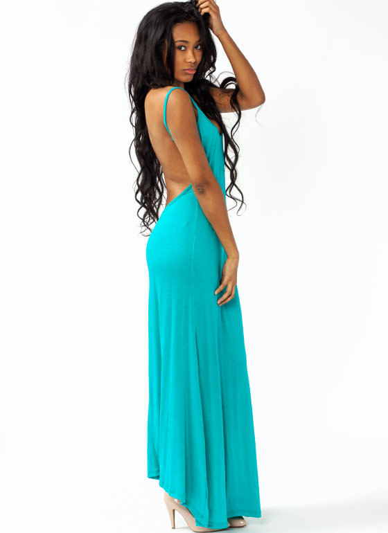 Open Back Maxi Dress JADE