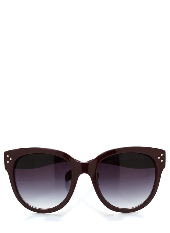 Oversized Sunglasses BURGUNDY