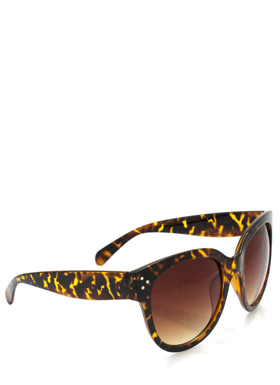 Oversized Sunglasses TORTOISE