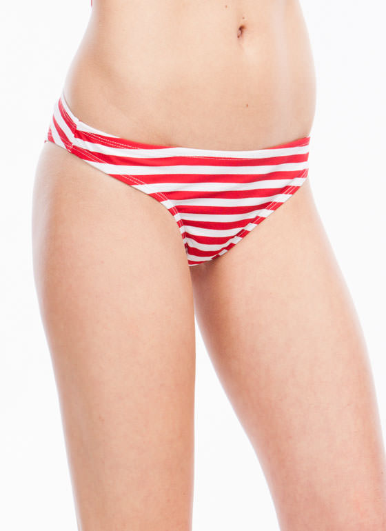 Striped Bikini Brief REDBLUE