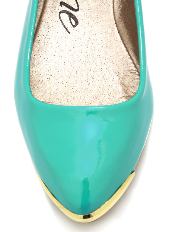Spiked Pointy Toe Flats MINT