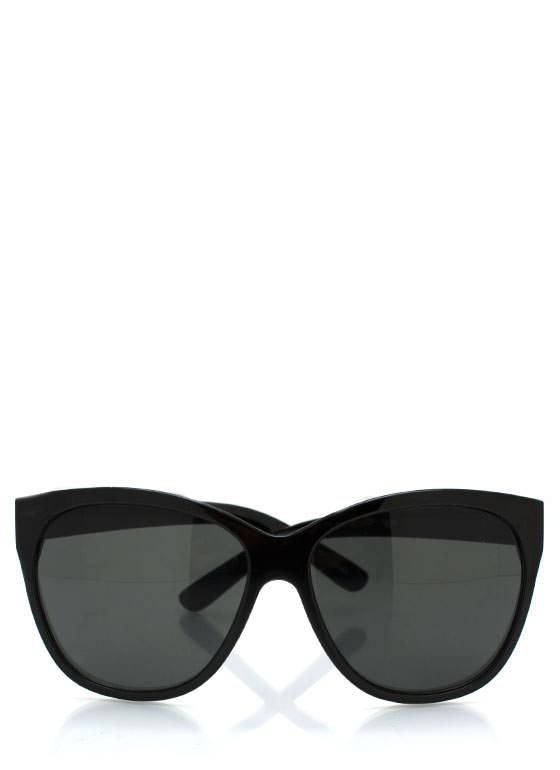 Cat Eye Sunglasses BLACKCHAR