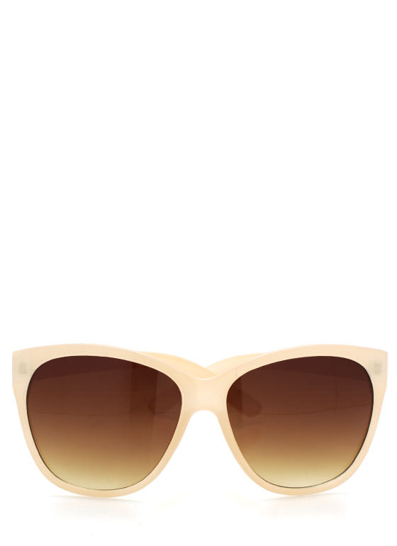 Cat Eye Sunglasses CREAM