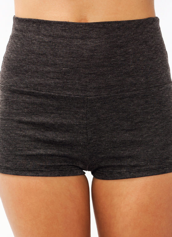 High Waisted Shorts CHARCOAL